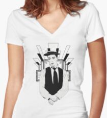 Presenting BUSTER KEATON Women's Fitted V-Neck T-Shirt