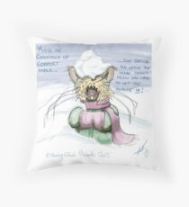 Muriel the comfort chinchilla  Throw Pillow