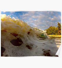 Frothy wave Poster