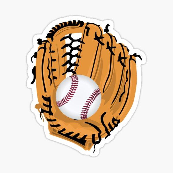 Baseball and Glove Sticker