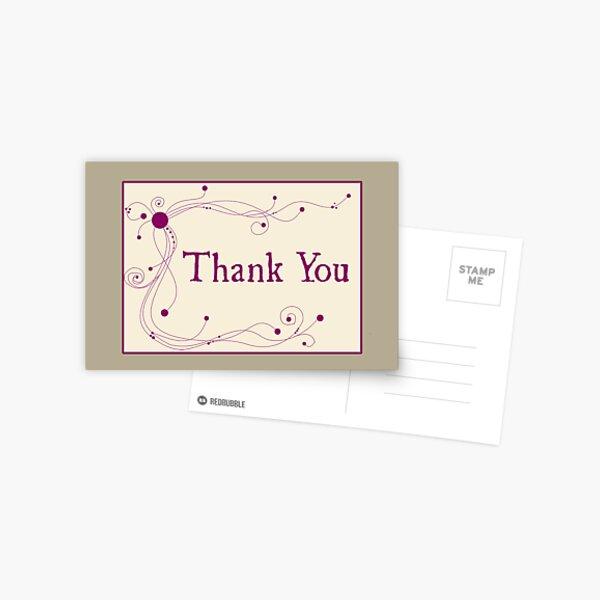 Thank You - Swirls 'n Dots Postcard