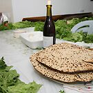 Table set for the Pesach (Passover) traditional Seder feast by PhotoStock-Isra