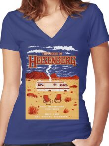 The Legend of Heisenberg Women's Fitted V-Neck T-Shirt