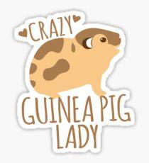 Crazy Guinea Pig Lady Sticker