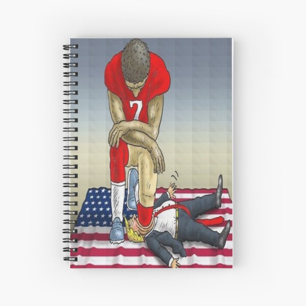 Colin Kaepernick Kneeling  Spiral Notebook