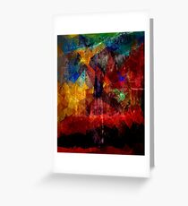 Abstract painting City Lights Greeting Card