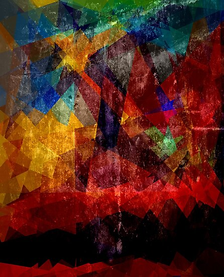Abstract painting City Lights by Nhan Ngo