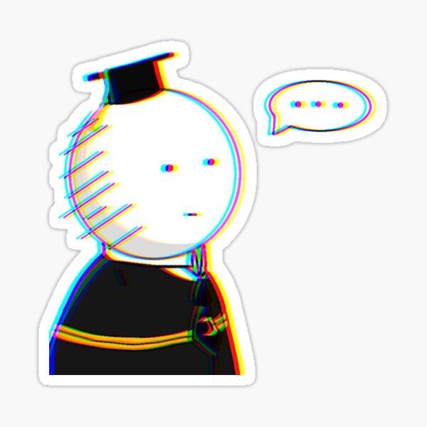 Koro Sensei White face - Assassination Classroom Sticker