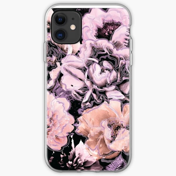 Bold Floral Lilac iPhone Soft Case