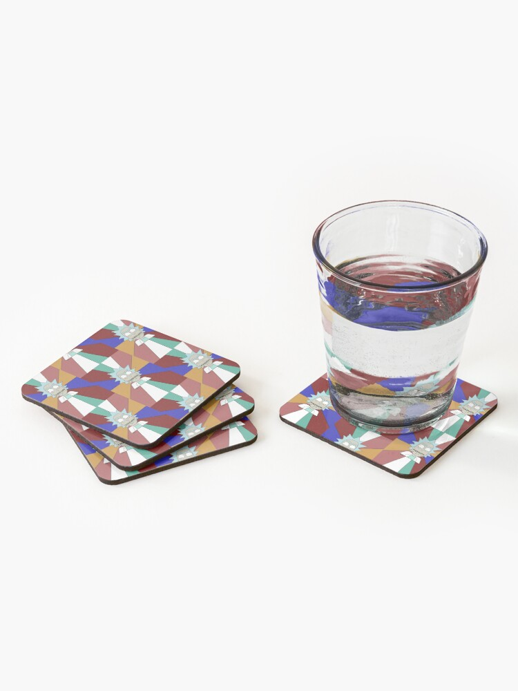 Alternate view of The madness of madmen Coasters (Set of 4)