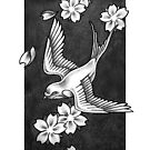 Sparrow Through Blossoms by Paula Stirland
