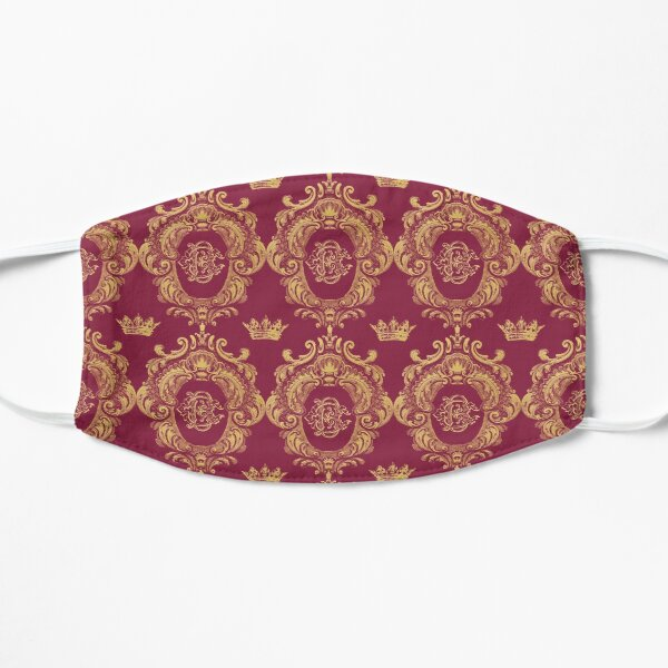 Castlefield Monogram Crest Red & Gold Mask