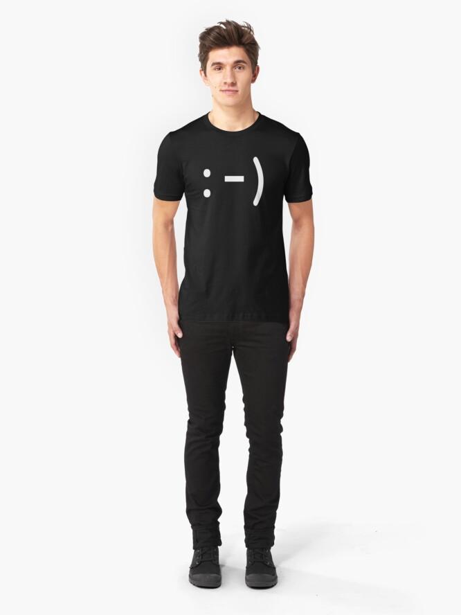 Alternate view of emoticon I - White Slim Fit T-Shirt