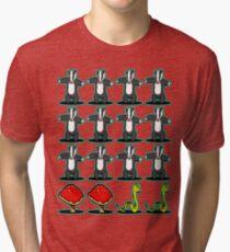 Badger Badger Mushroom Snake Tri-blend T-Shirt