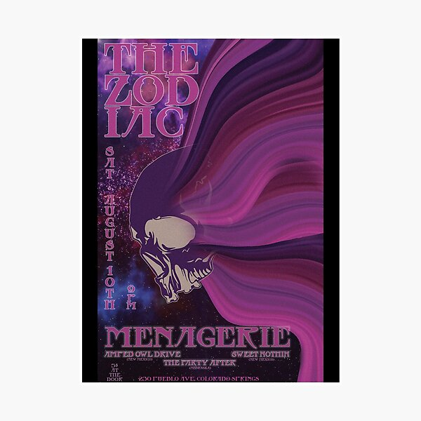 Menagerie Live at The Zodiac Photographic Print