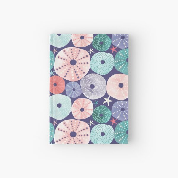 Sea Urchin Shells Purple Hardcover Journal
