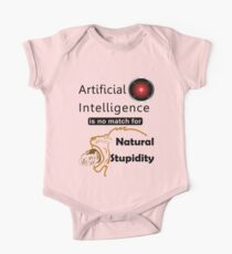Artificial Intelligence vs. Natural Stupidity One Piece - Short Sleeve