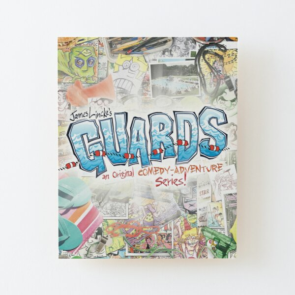 GUARDS - Illustration Collage Wood Mounted Print