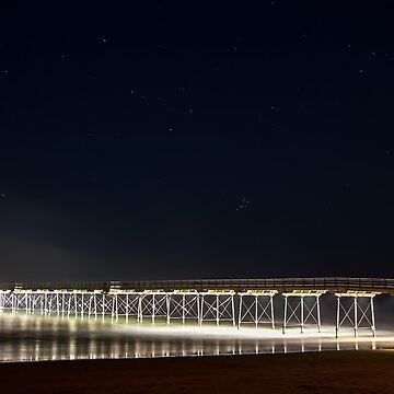 Saltburn Pier by Night by dormouse1976