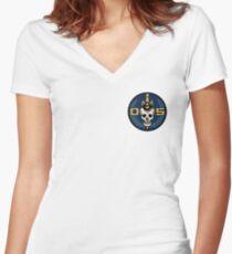 Danger 5 Emblem (Pocket) Women's Fitted V-Neck T-Shirt