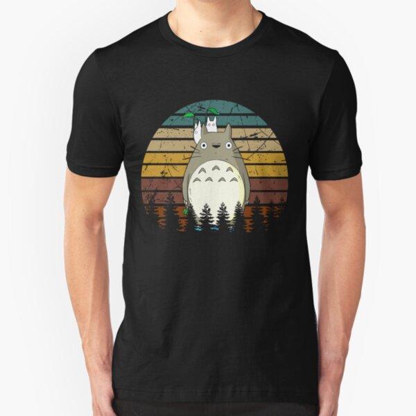 Ghibli Studio Movie Totoro Character Funny Design Gift Slim Fit T-Shirt