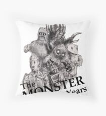 The Monster Years Throw Pillow