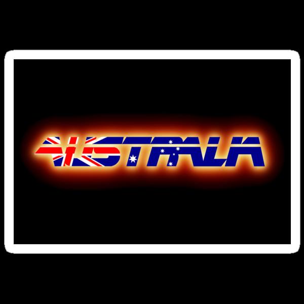 Australia - Flag Logo - Glowing by graphix