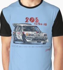 Rally Group B-Peugeot 205 Turbo 16 Graphic T-Shirt