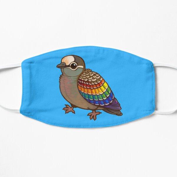 Pride Birds: Common Bronzewing Flat Mask