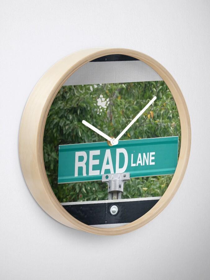 Alternate view of Booklovers gift, Read, Teacher gifts  Clock