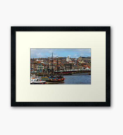 The Bark Endeavour Whitby Framed Print