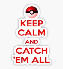 Catch 'em all Sticker