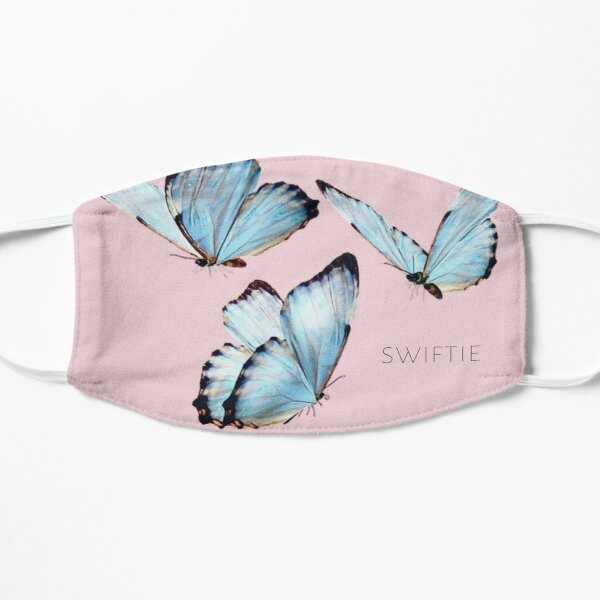 pretty design for swiftie swifties Taylor Swift ts7 lover era album song title butterfly butterflies blue pink baby light new music Mask