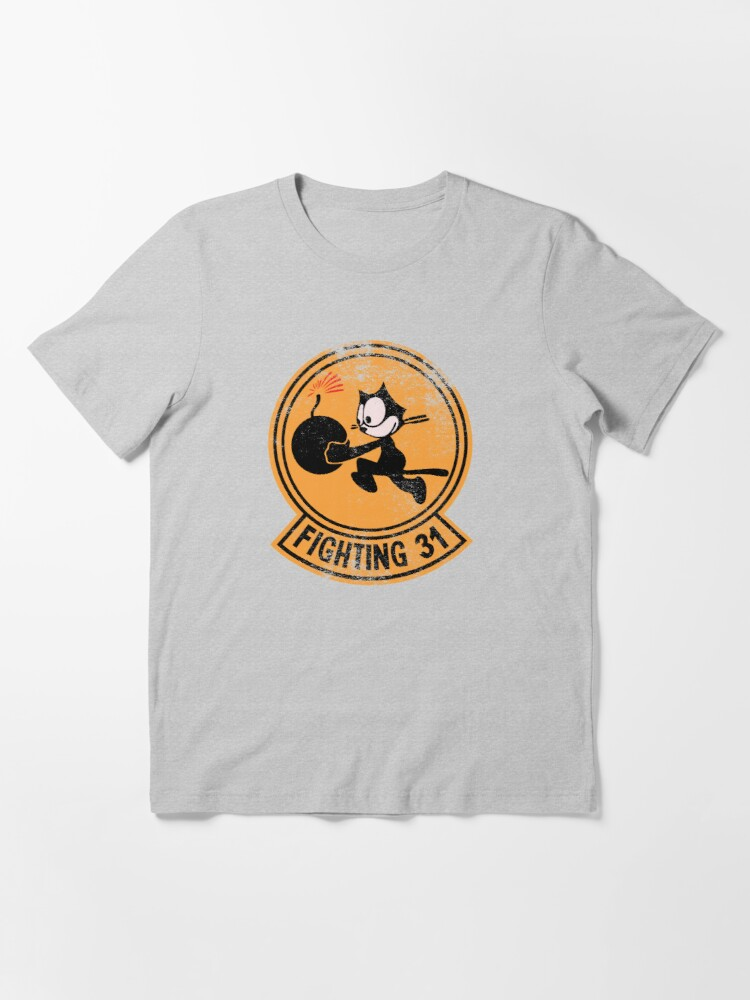 Alternate view of WW2 VFA-31 Tomcatters Squadron Patch Shirt Gear Essential T-Shirt
