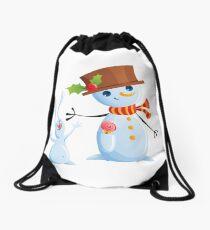 Christmas Snowman & Bunny Sac à cordon