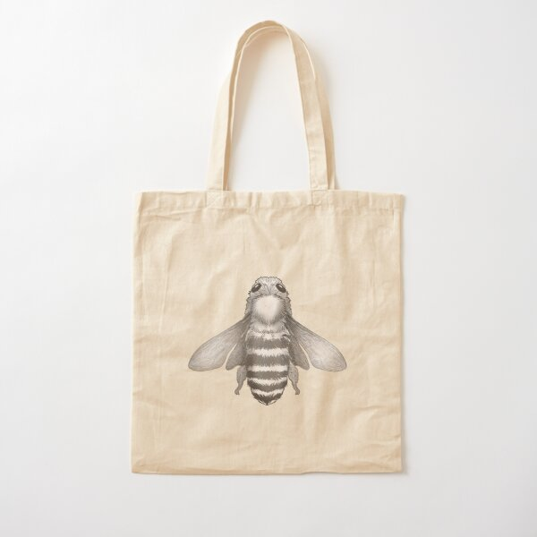 Bee Hand Drawing Cotton Tote Bag