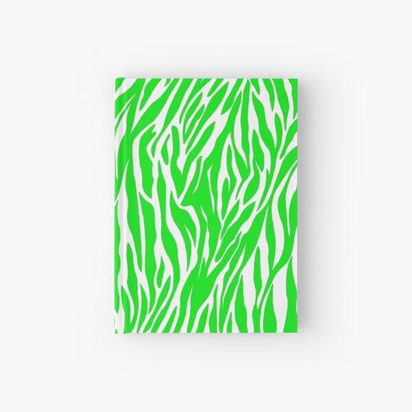 Lime Green Custom Zebra Print Hardcover Journal