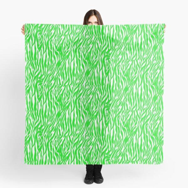 Lime Green Custom Zebra Print Scarf