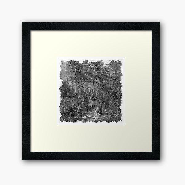 The Atlas of Dreams - Plate 30 (b&w) Framed Art Print