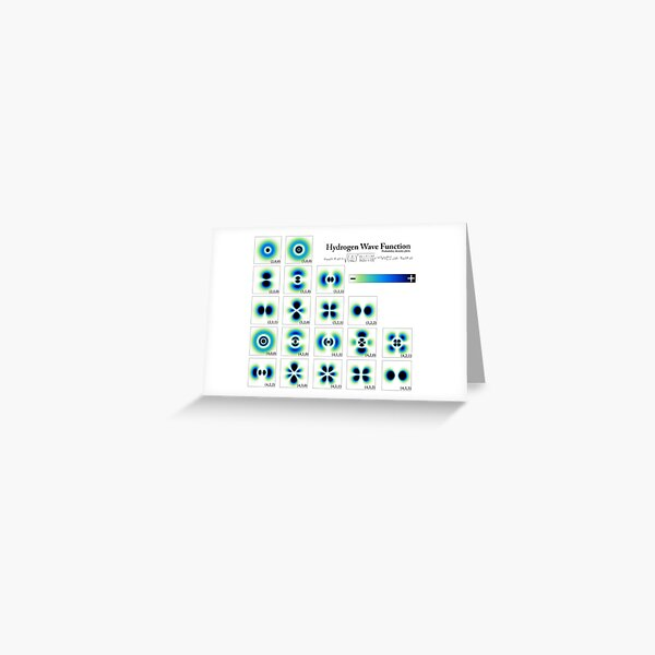 Hydrogen Wave Function Greeting Card