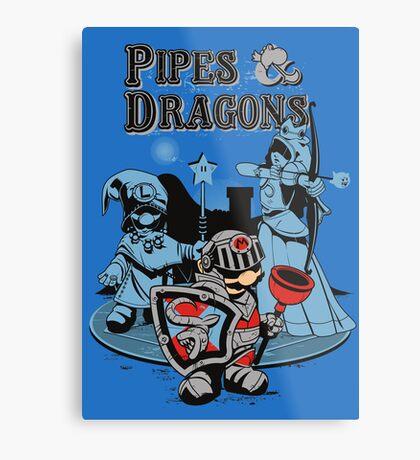 PIPES & DRAGONS Metal Print