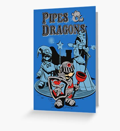 PIPES & DRAGONS Greeting Card