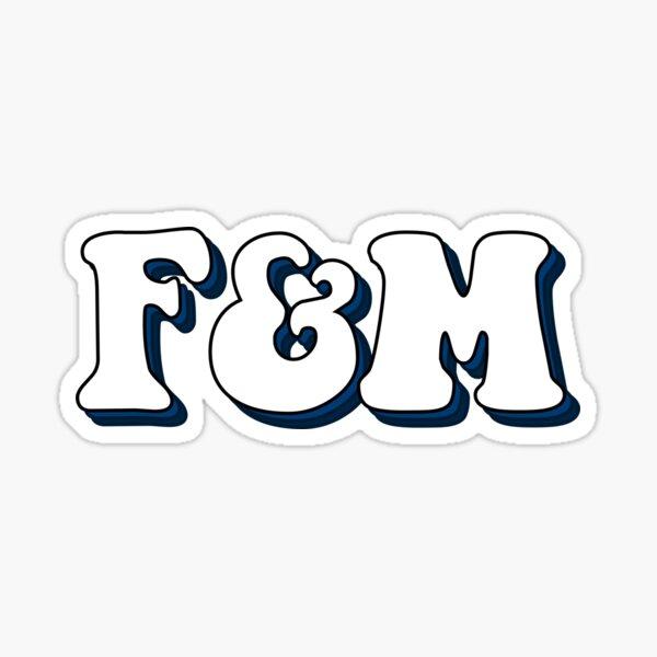 Franklin marshall lettering Sticker