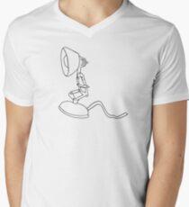 Luxo jr Strichzeichnung T-Shirt mit V-Ausschnitt