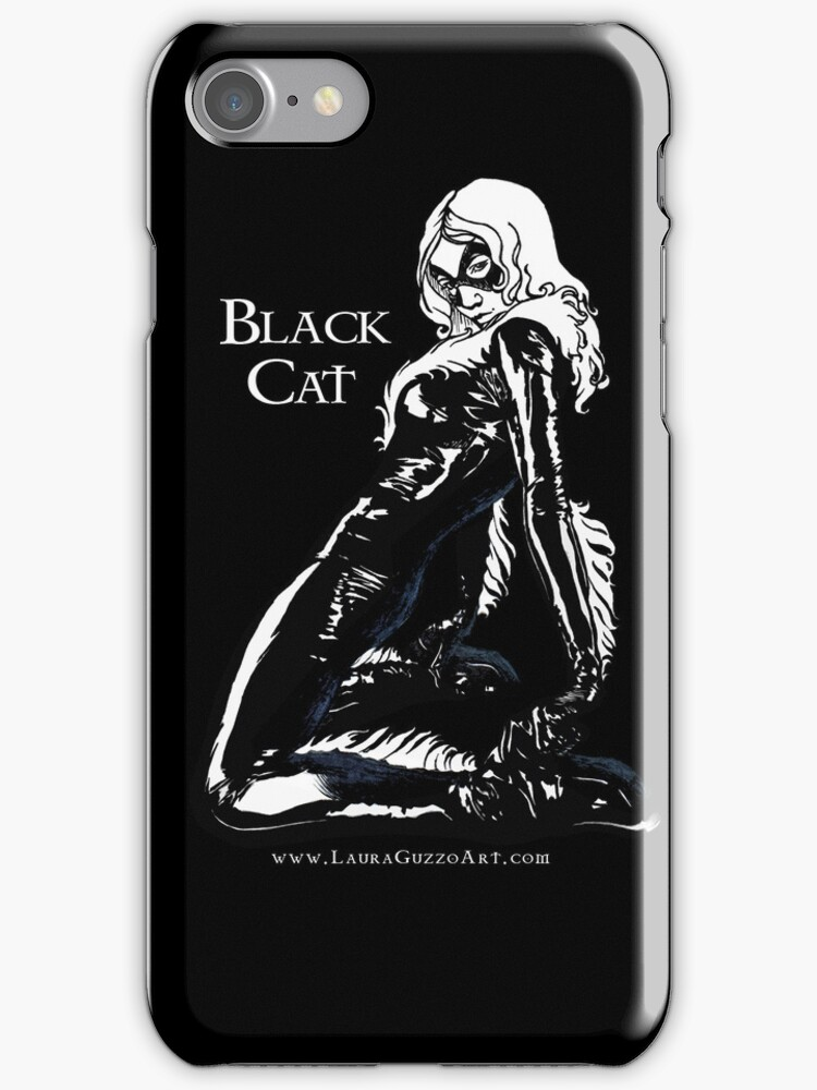 Black Cat in Shadow by Laura Guzzo
