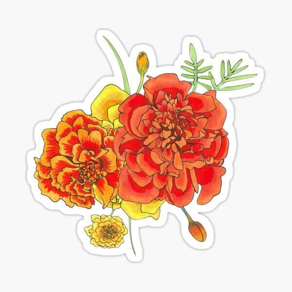 Marigold Boquet Sticker