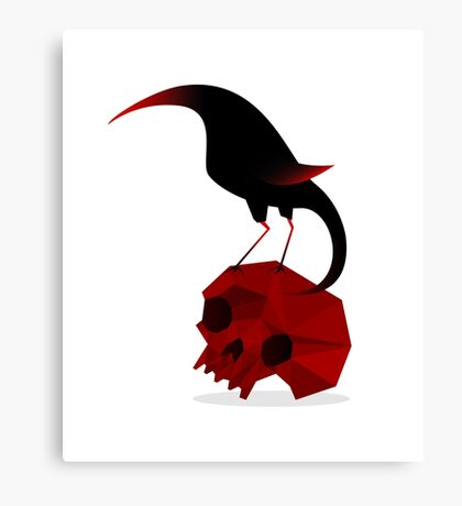 Bird and Skull Canvas Print