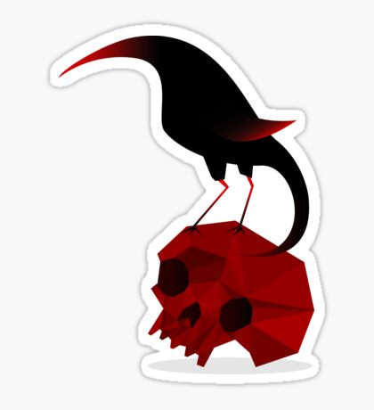 Bird and Skull Sticker