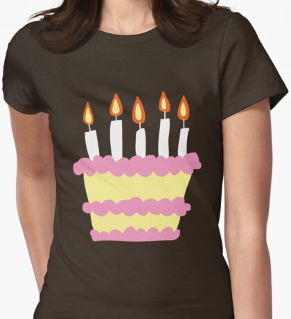 Pink White Birthday Cake T-Shirt