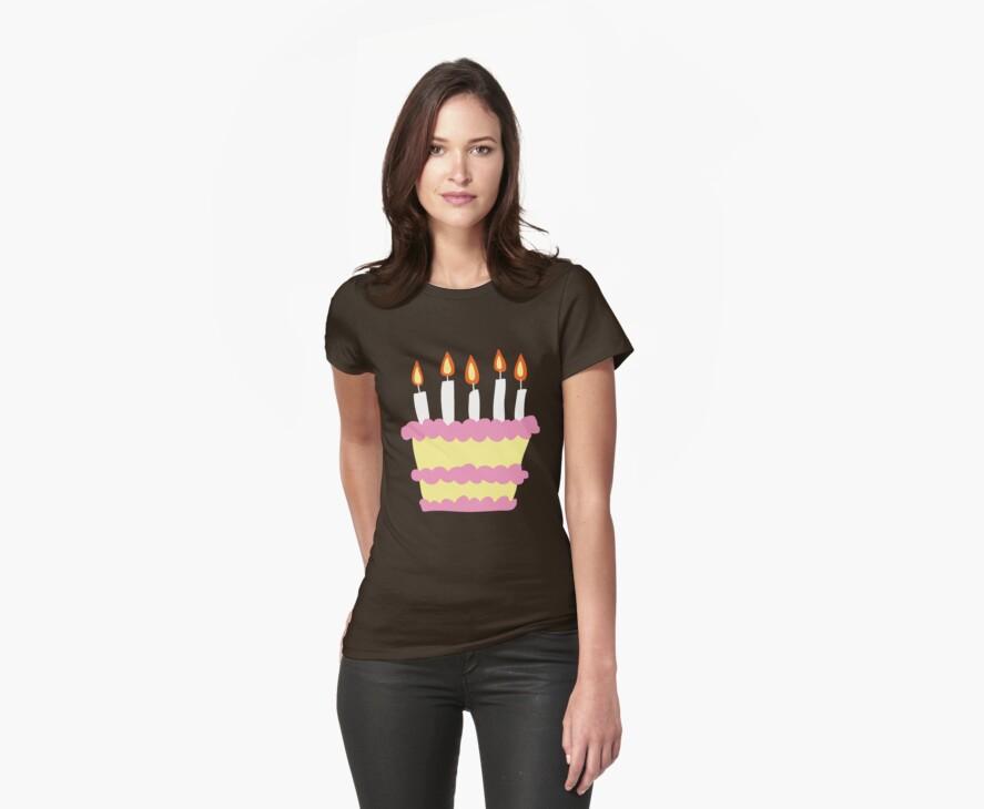 Pink White Birthday Cake by SaradaBoru